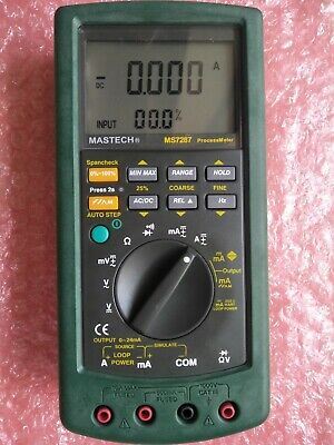 Mastech Ms7287 Digital Process Calibration Multimeter Tester Mastech Ms7287