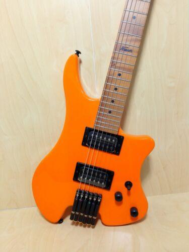 Kapok Gloss Orange Headless Electric Guitar,H-H,Solid Body+Free Bag KAHL001/ORG