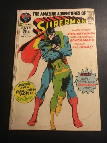 SUPERMAN #243 1971 DC NEAL ADAMS COVER VG/FN
