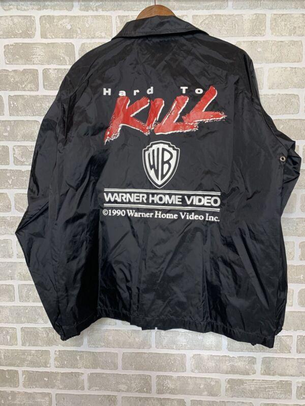 Vintage Warner 1990 Hard To Kill - Movie Promo Windbreaker Jacket Steven Seagal