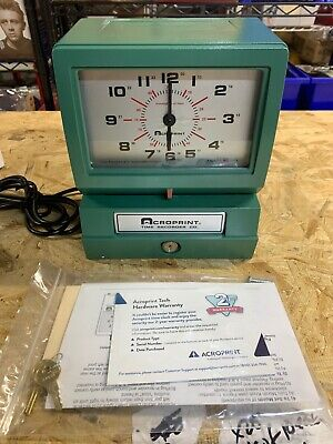 Acroprint Model 150er3 Automatic Time Recorder Dayhundths Of An Hr