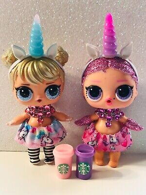 8PC Custom LOL Surprise Dolls Unicorn Accessories Clothes Skirt Outfit Starbucks