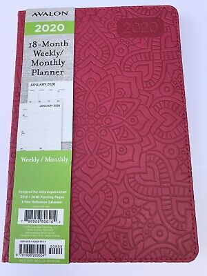 2020 Avalon 18-month Weeklymonthly Planner Calendar Agenda Book Hibiscus 5x8