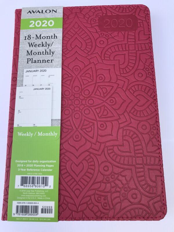 2020 Avalon 18-month Weekly/Monthly Planner Calendar Agenda Book HIBISCUS 5x8