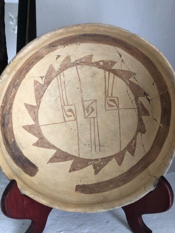 Anasazi  Early Hopi Jeddito Coal Fired Yellow Ware Bowl ca 1300-1600 AD