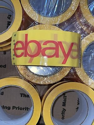 22 Rolls Official Ebay Branded Tape Packing Shipping Supplies 75 X 2 Yellow