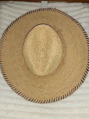 Zara Straw Beach Hat Size Small