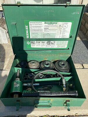 Greenlee 7310sb Hydraulic Metal Knockout Punch Set 7310