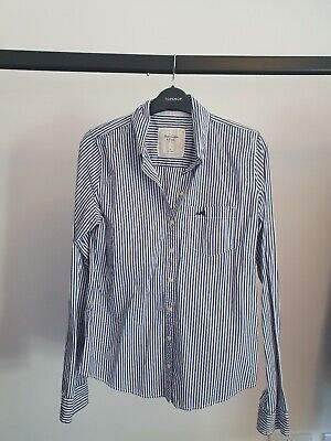 Abercrombie & Fitch Womens Blue & White Striped Shirt, Size M
