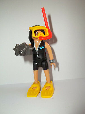 Playmobil,FEMALE SCUBA DIVER WITH CAMERA