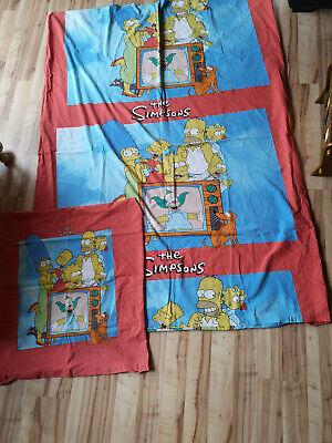 The Simpsons Bettwäsche Baumwolle rot blau 135x200  ()
