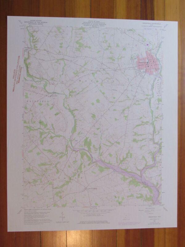Greenfield Ohio 1976 Original Vintage USGS Topo Map