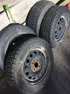 """14"""" snow tires with 4x100 steel rims"""