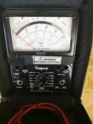 Simpson Multimeter Model 260 Series 8 With Padded Case See Note And Leads