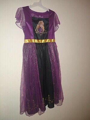 Disney Frozen 2 Dress Up Gown- Anna. Machine Washable. Flame Resistant. Size M