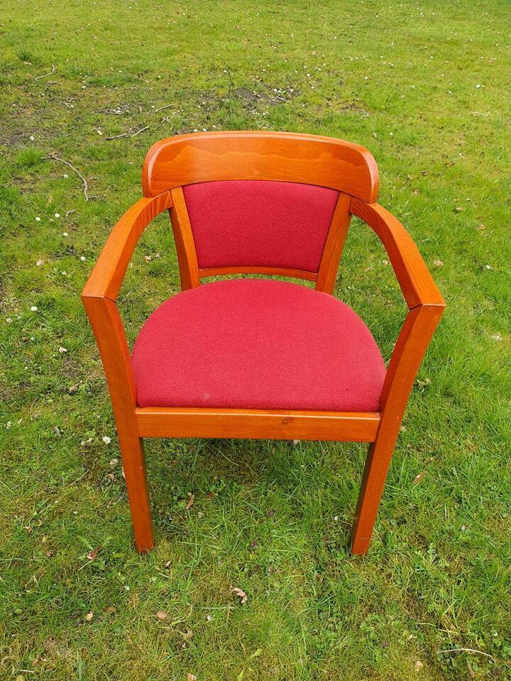 Stuhl / Stühle / Holzstühle mit Bezug (rot, blau, grün) in Hilden