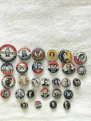 Presidential Campaign pins, Kleenex Tissue 1968 collection