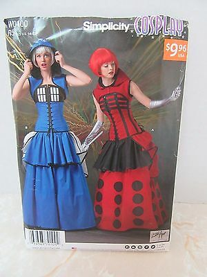 Simplicity W0100 R5 14-22 Womens Uncut Halloween Costume Pattern Cosplay Tardis](Tardis Halloween Costume)