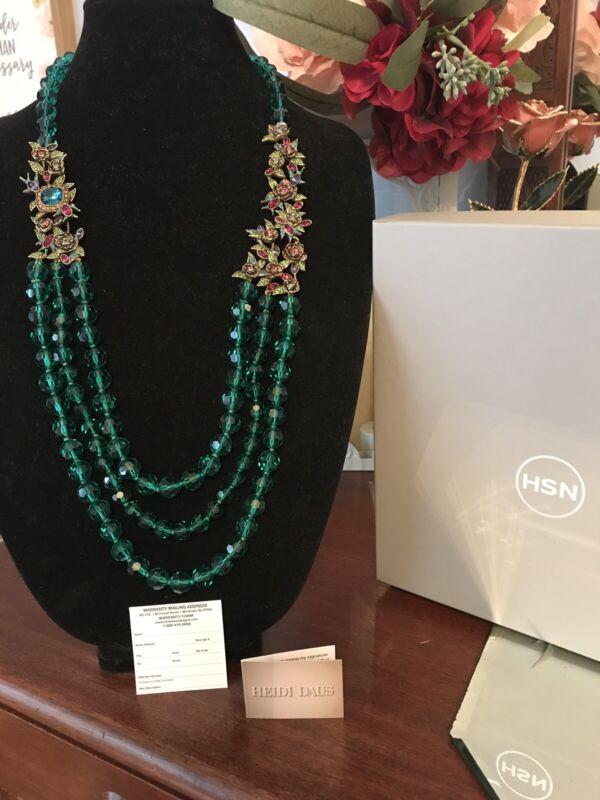 Heidi Daus Gracious Garden With Green Crystal Beads NIB