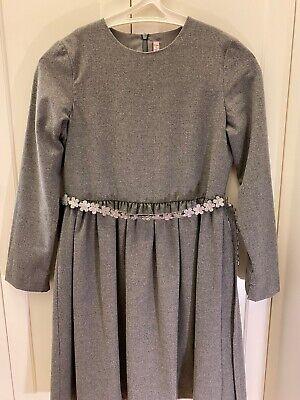 Il Gufo Girl's Dress in Gray, Wool Blend Fabric, Sz 12, EUC, Long Sleeve