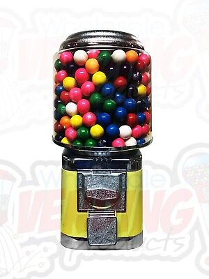 Wholesale Vending Products All Metal Bulk Vending Gumball Candy Machine Yellow