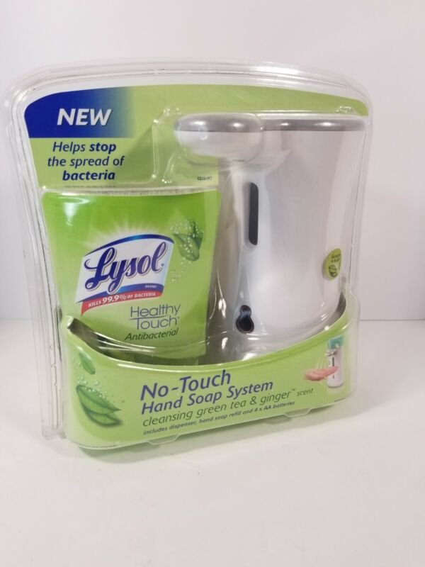 Lysol No-Touch Hand Soap System Cleansing Green Tea Ginger Scent New EXP 1/2012