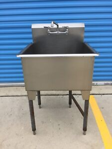 Stainless Steel Single sink, Industrial Heavy Duty with Faucet