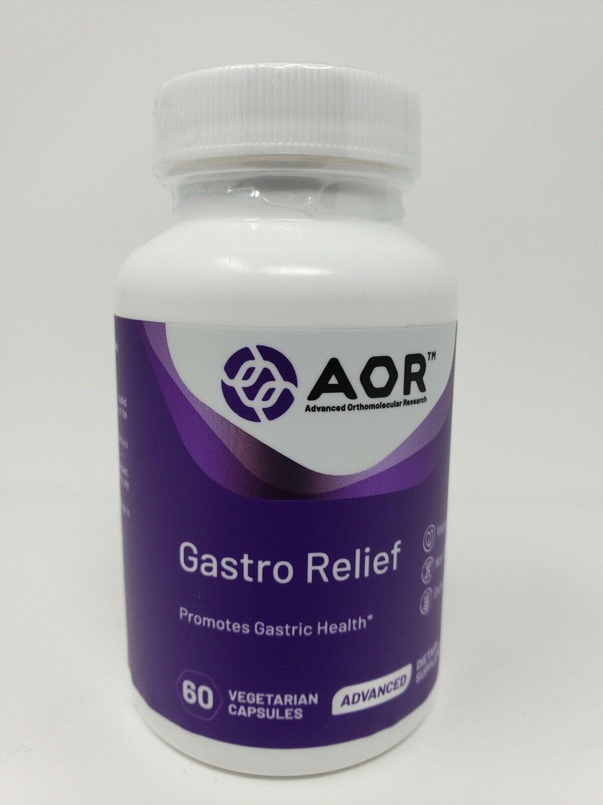 "AOR ""Gastro Relief""  60 Vegan Capsules PROMOTES GASTRIC HEALTH Heartburn"