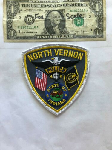Rare North Vernon Indiana Police Patch Un-sewn great shape