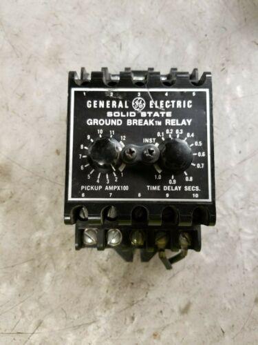 GE TGSR12 SOLID STATE GROUND BREAK RELAY INPUT 120V 240V OUTPUT 30A