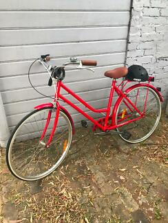 Vintage style red bike for sale