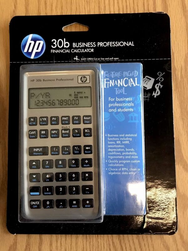 HP 30B Business Professional Financial Calculator