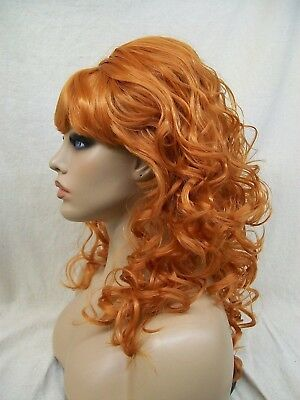 Orangish Red Beehive Beauty Wig 60s 70s Housewife Groovy Retro Ginger Peg Bundy 60s 70s Wigs