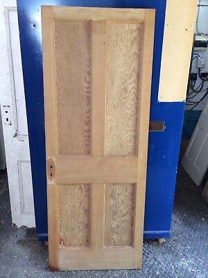 "Stripped 4 Panelled Door 77 3/4"" X 29 3/4"" X 1 3/4"""