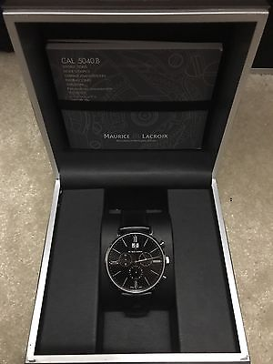Maurice Lacroix Men's Eliros Stainless Steel Watch With Black Leather Band