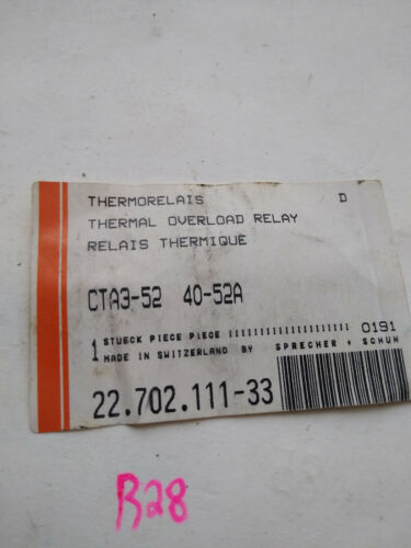 THERMORELAIS CTA3-52 40-52A THERMAL OVERLOAD RELAY