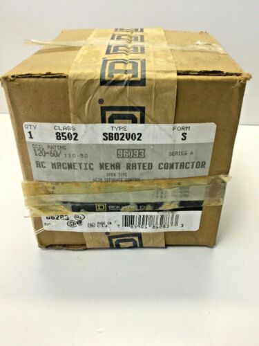 NEW, SEALED, SQUARE D, 8502-SV02B02, AC MAGNETIC NEMA RATED CONTACTOR. (15C-4)