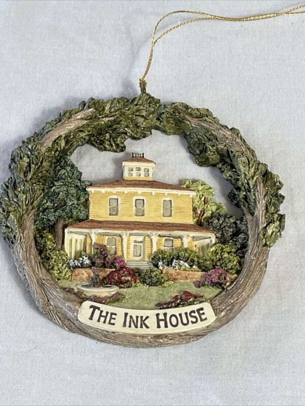Vintage The Ink House Christmas Ornament In Box Napa Valley Winery Inn St Helena