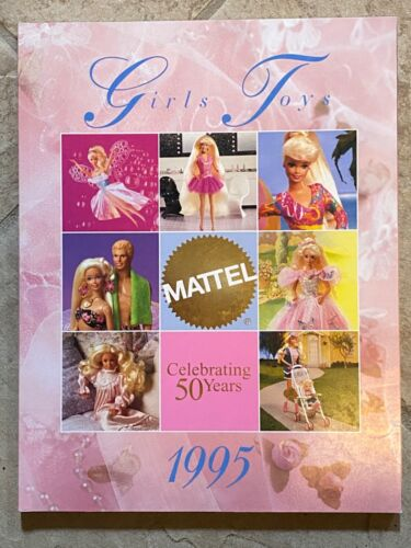 Mattel 50yrs 1995 Girls Toy Catalog Barbie Polly Pocket Disney Princess Aladdin