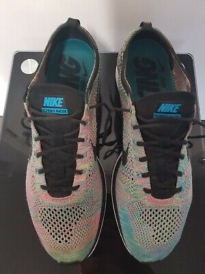 Nike Flyknit Racer Trainers multicolored UK size 9.5
