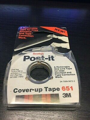 Lot Of 4 - Post-it Cover Up Tape 651 White 16 X 700