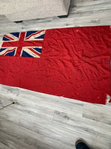 WW2 Canadian Merchant Navy Red Ensign Sewed C Broad Arrow