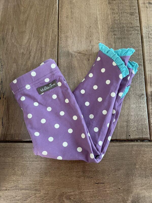 Matilda Jane Baby Little Darling Legging Sz 18-24m Purple Polka Dots