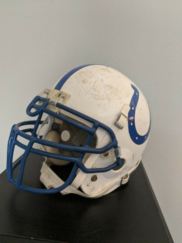 Indianapolis Colts Game Worn Used Football Helmet #49 NFL