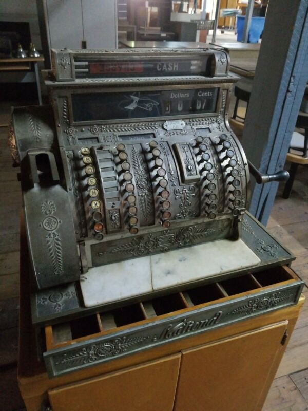 National Brass Cash Register - Fully Functional!