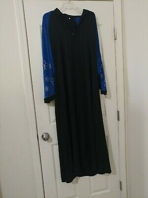 Muslim Kaftan Abaya Jilbab Islamic Women Long Sleeve Cocktail Maxi  Dress XL