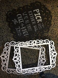 Wedding in a box! Silver, black and white wedding decor