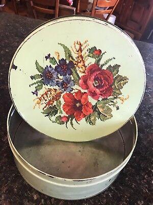 Vintage Round Tin 10