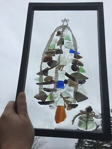 Seaglass Christmas Tree by Deb Humen