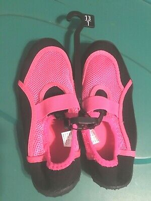 ea36c4a825514 NEW Youth Girls Athletic Works Pink Swim Water Shoes Size 13-1